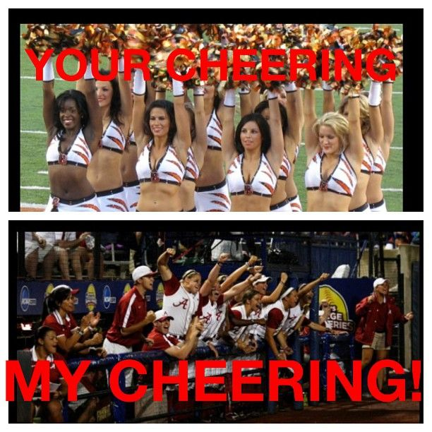 Softball - How I think of cheering