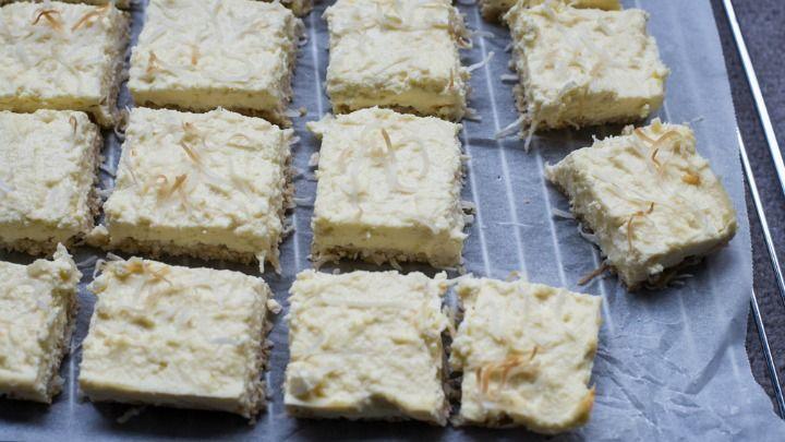 No-bake lemon and coconut slice