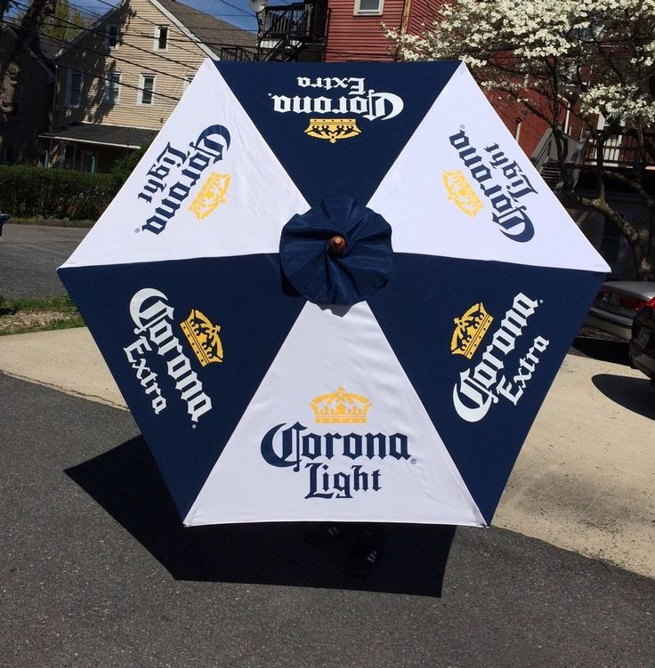 Corona Extra Light Beer Umbrella Patio Table Tiki Bar Man