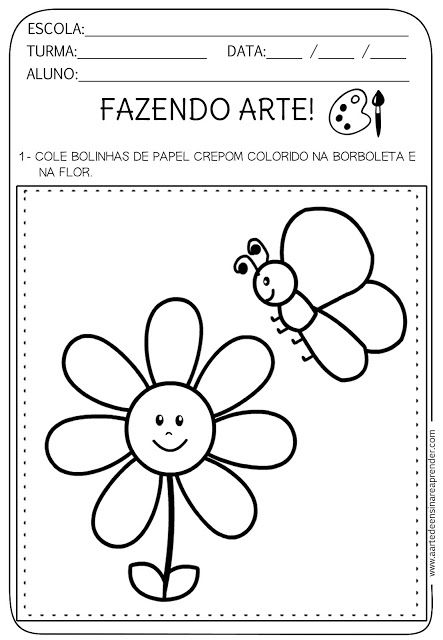 Atividade Pronta Fazendo Arte Boyama Kindergarten School