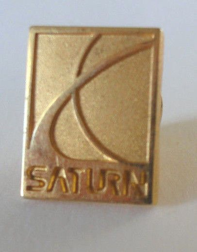 Saturn Corporation Vintage Advertising  Pinback Lapel Pin