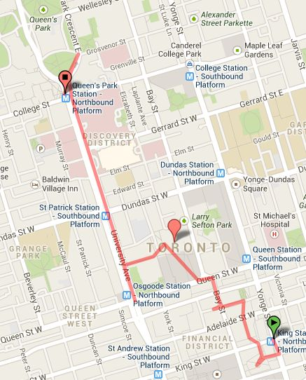 Try Nuit Blanche 2013 with kids! Here's the fun circuit I recommend. It's 3.1 km, starts and ends with... an elephant.