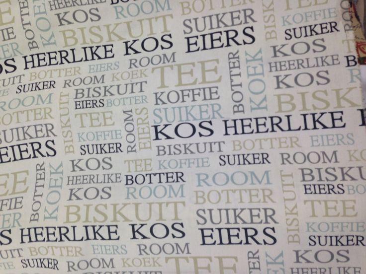 Afrikaans food words