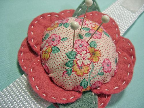 Wrist Corsage Pincushion by misseskwittys, via Flickr