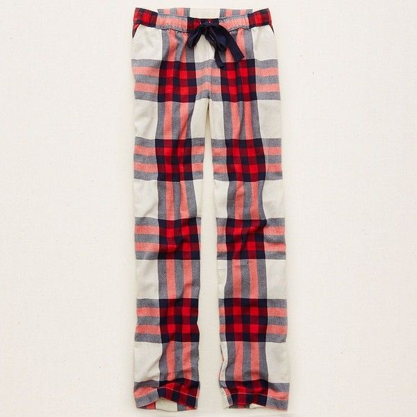 Aerie Sleep Pants ($35) ❤ liked on Polyvore featuring intimates, sleepwear, pajamas, vintage vanilla, plaid flannel pajamas, plaid pjs, flannel sleepwear, vintage pajamas и aerie sleepwear
