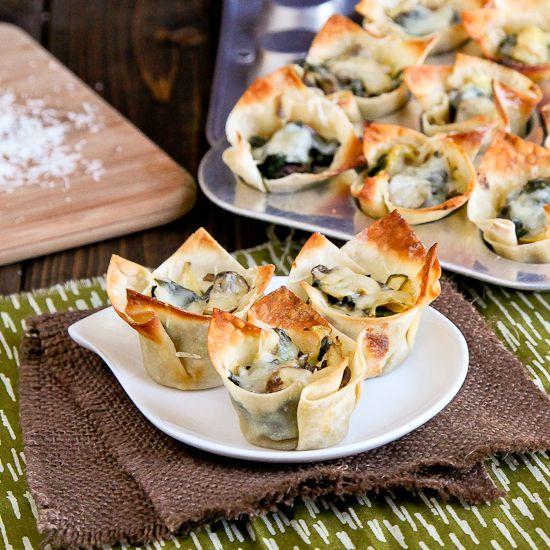 Spinach Artichoke Lasagna Cups - Snixy Kitchen