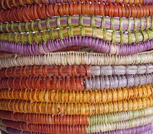 Milpuna Bidingal - Coiled basket (detail)  Nice colors