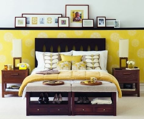 I love the symmetry. Especially love the molding above the bed, used to showcase family pictures!