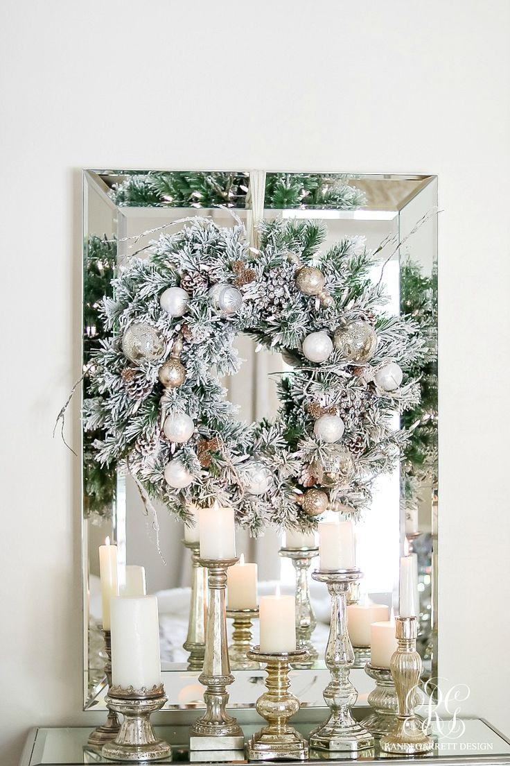 deck the halls christmas home tour elegant white wreath
