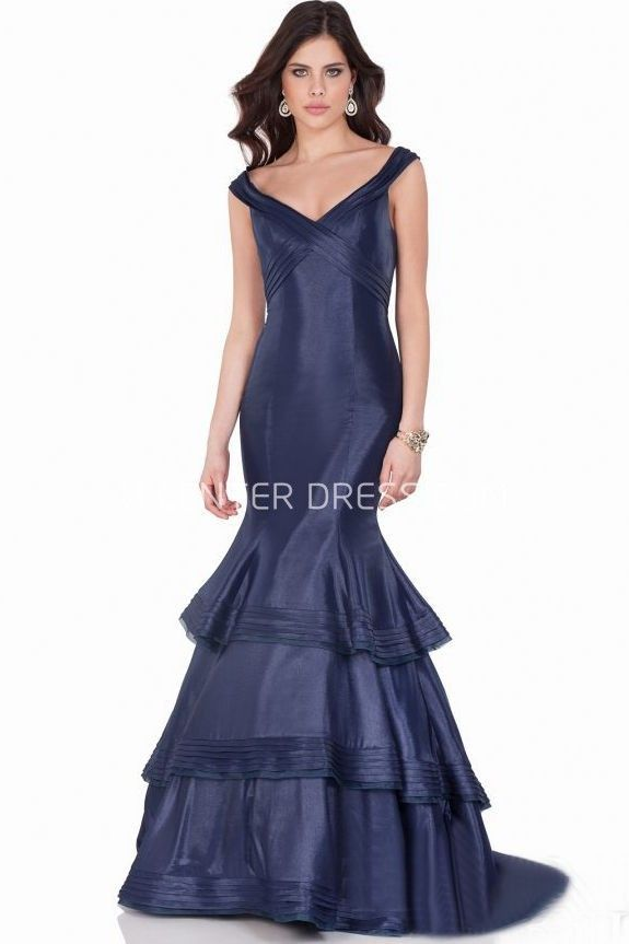 $125.29-Sexy Mermaid Cap Sleeve Ruched V-Neck Satin Dark Blue Evening Gown with Ruching. http://www.ucenterdress.com/mermaid-cap-sleeve-ruched-v-neck-satin-prom-dress-pMK_302120.html.  Shop for affordable evening gowns, prom dresses, white dresses, party dresses for women, little black dresses, long dresses, casual dresses, designer dresses, occasion dresses, formal gowns, cocktail dresses . We have great 2016 Evening Gowns on sale now. #evening #gowns