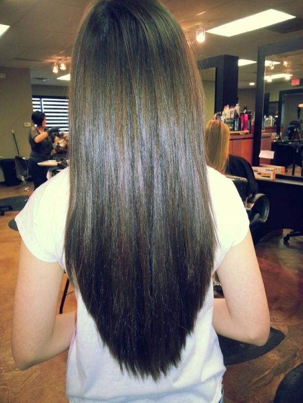 Long V haircut, but with a few layers by angela