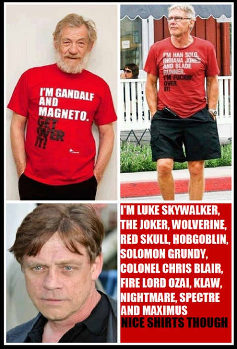 I think Mark Hamill has just outgeeked both you gentlemen. < i had no idea he was so many people