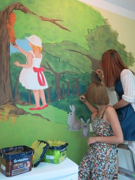 Odział Dziecięcy w Morągu pełen kolorów | Farby Śnieżka