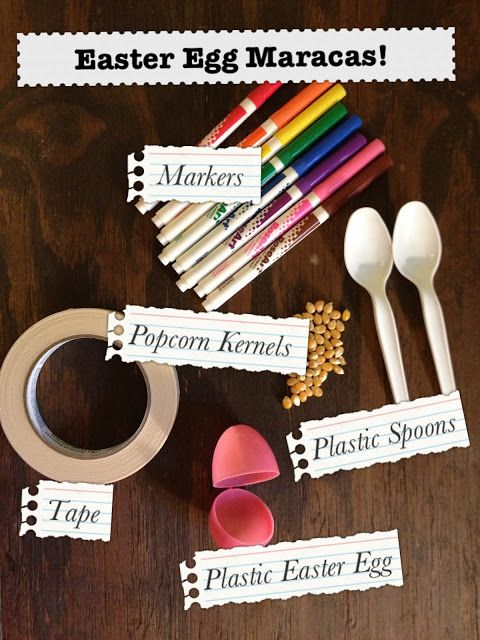 Musical instruments: Simple Preschool Craft: Easter Egg Maracas! You could modge podge them as well!