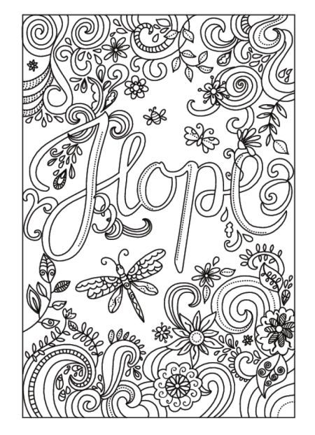 Hope colouring page #words Amanda Hillier                                                                                                                                                                                 More