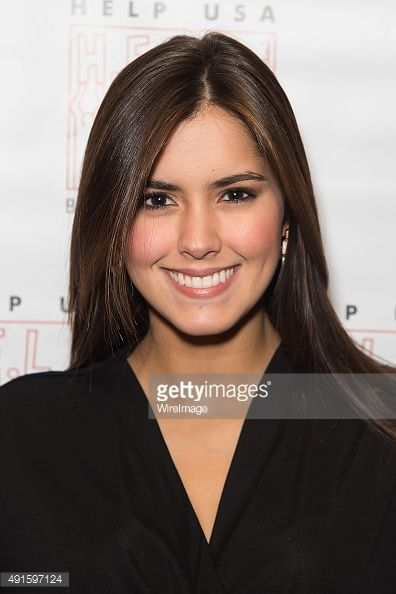 Miss Universe 2014 Paulina Vega attends Homelessness Isn't Funny, But They Sure Are benefit gig at Gotham Comedy Club on October 6, 2015 in New York City.