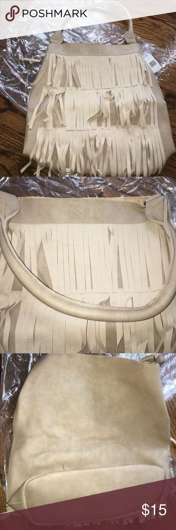 Cream purse Purse tassels Bags