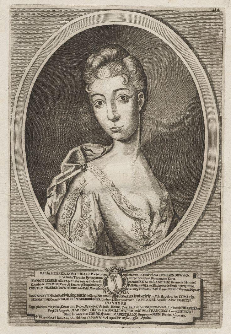 Dorota Henryka Przebendowska by Hirsz Leybowicz, 1747-1758 (PD-art/old), Muzeum Narodowe w Warszawie (MNW)