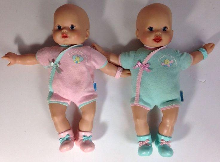 2 Fisher Price Mattel 2006 Little Mommy Baby Doll Newborn