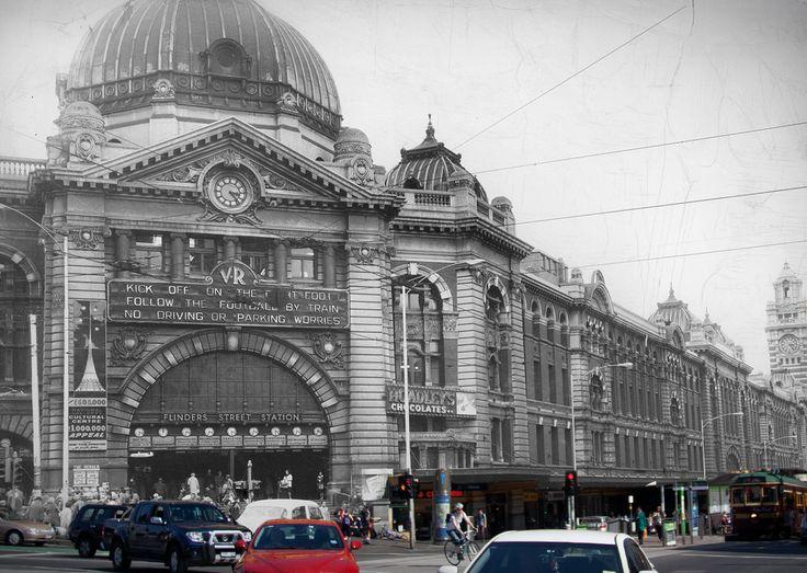 Then & Now - Flinders Street Station