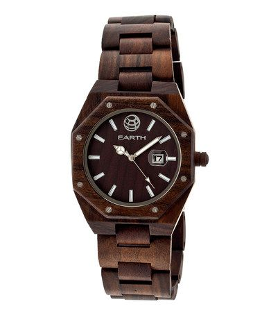 Dark Brown Medullary Raywood Bracelet Watch by EARTH wood watches #zulily #zulilyfinds
