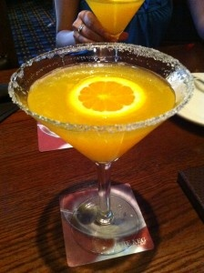 The Keg's orange slice martini!