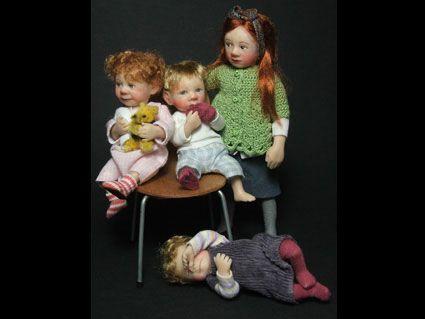 Quelques enfants: Miniatures Dolls, Minis Dolls