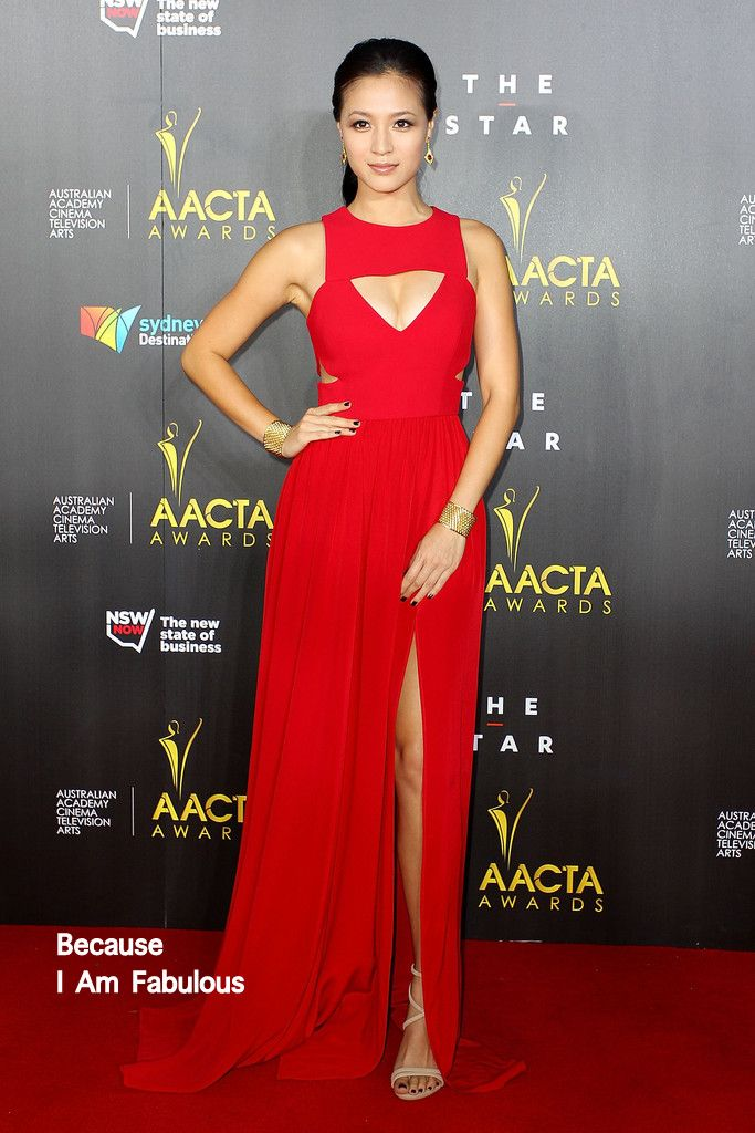 Fabulouslh Spotted: Grace Huang Wearing Yeojin Bae - 3rd Annual AACTA Awards  - http://www.becauseiamfabulous.com/2014/01/grace-huang-wearing-yeojin-bae-3rd-annual-aacta-awards/