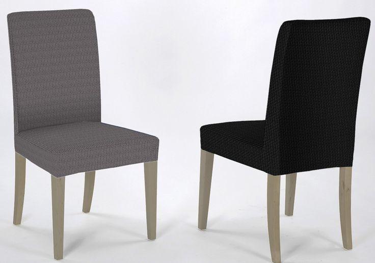 Housse extensible ALEXA couverture de chaise, couverture de chaise, le capot inférieur, 2-Pack Gris