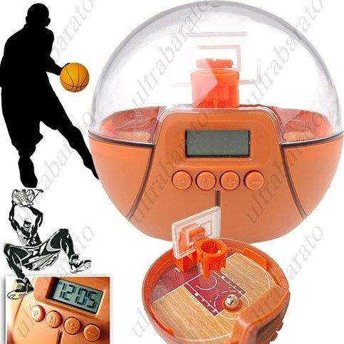 $21.59 - Cool Basketball Game Digital Alarm Clock Desktop Clock Bed Timepiece with Backlight from UltraBarato Gadgets
