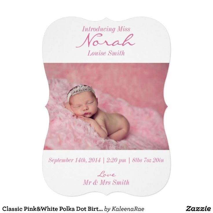 302 best Baby Birth Announcement Cards images – Classic Baby Announcements
