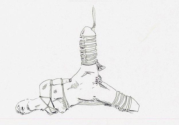 shibari / kinbaku / bondage / semi-suspension / futomomo