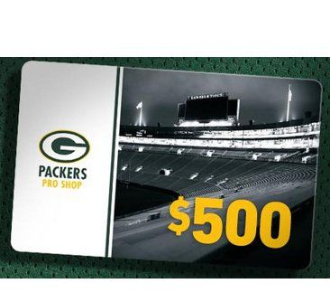 5 winners will get a $500.00 Packers Pro Shop gift card. On January 31, 2018, the Green Bay Packers will select the name of the winner in a random drawing of all eligible entries received during the promotion period to win. The potential winner will...