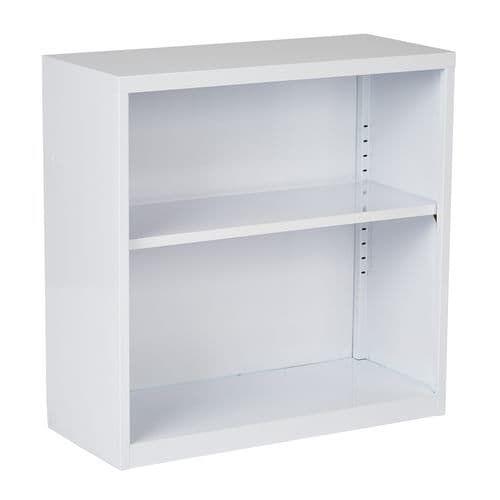 Metal Bookcase in White Finish