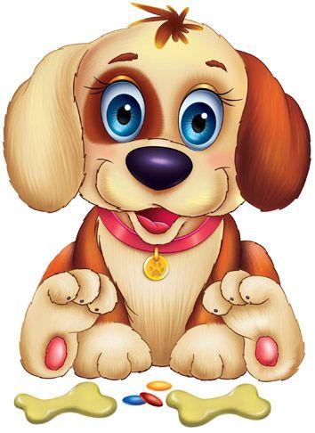 Dibujos. Clipart. Digi stamps - Puppy Dog - Perro