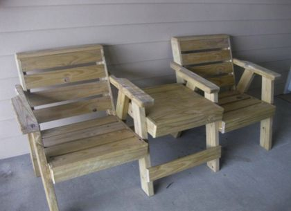 Outdoor Furniture Made From Pressure Treated Lumber