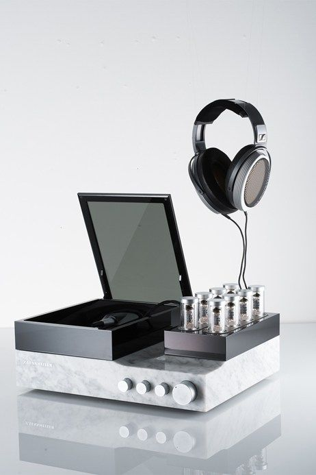 The £30,000 Sennheiser Orpheus headphones include a valve pre-amp encased in Italian marble for audiophile level quality