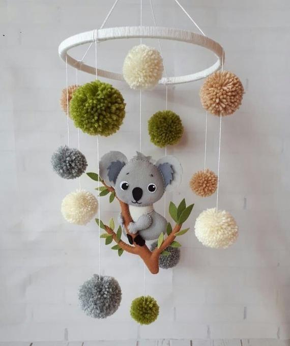 Koala Child Cellular Trendy Cellular Boy Crib Cellular Lady Nursery Pure Child Cellular Australia Childrensroomid In 2020 Crib Mobile Girl Baby Mobile Koala Nursery