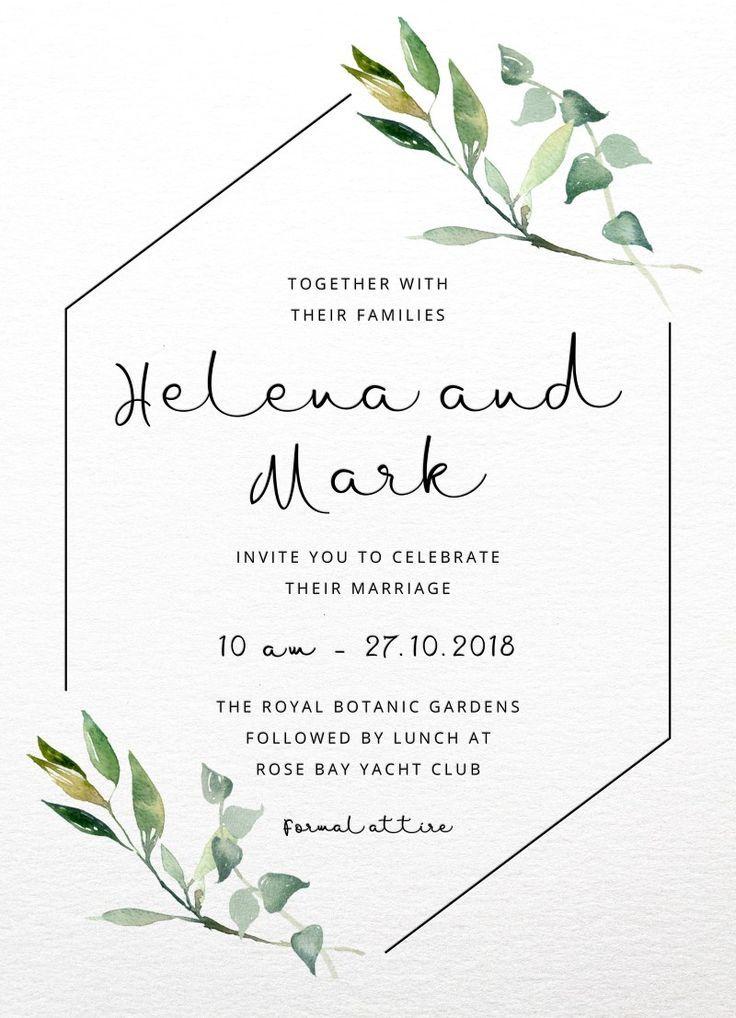 Garden Window Wedding Invitations