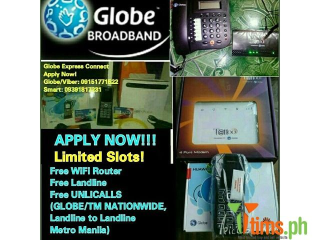 Find the best and affordable brand new and second hand Gadgets and Other Device for sale at tims.ph - Experience Globe 4g LTE Seemless Technology 1 day process (Express Connect) APPLY NOW!!!! Globe Broadband DSL/4g LTE -Fr..., Quezon - Metro Manila - Philippines