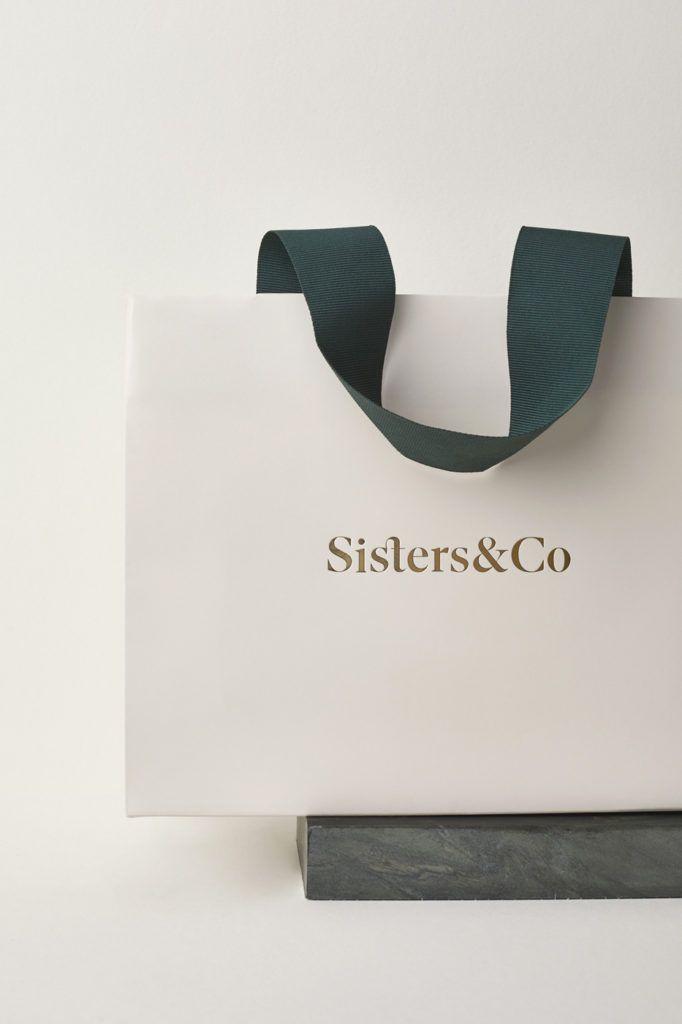 Download Sisters Co Branding Jewelry Packaging Design Shopping Bag Design Paper Bag Design