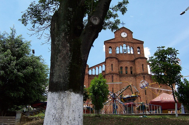 This is the church that I attended as a kid when we were there, EL CALVARIO - Campo Valdez - Medellin Colombia.