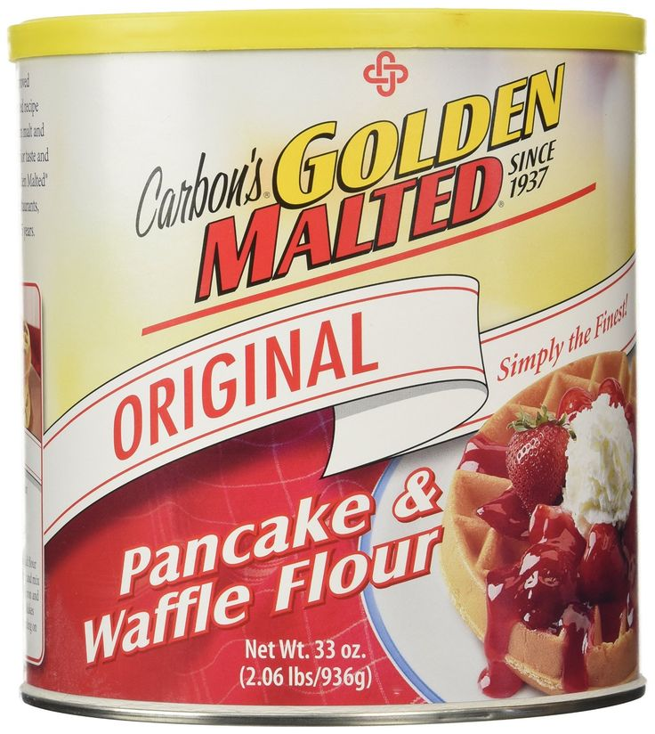 Golden Malted Waffle and Pancake Flour, Original, 33-Ounce Can -- Details can be found by clicking on the image.