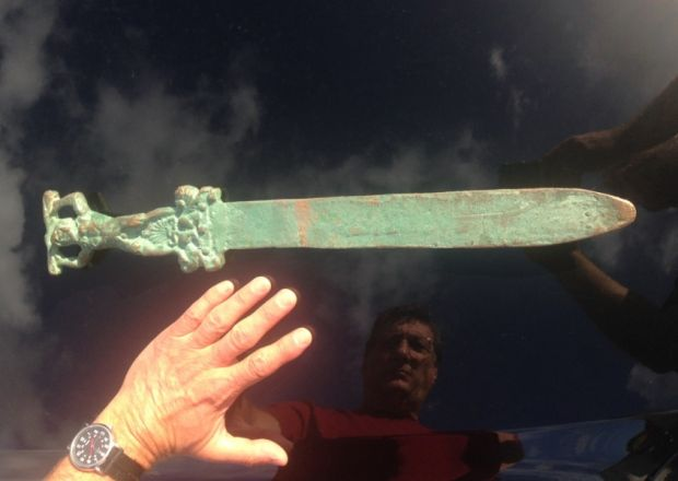 If true, it will rewrite history An ancient sword found in water near Oak Island in Nova Scotia offers proof the Romans found America, a researcher has claimed. If true, the sword - found by fishermen...