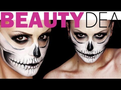 Skull Halloween 2015: Tutorial trucco con teschio - http://www.beautydea.it/skull-halloween-tutorial-trucco-teschio/ - Segui il video tutorial e scopri come creare uno spettacolare trucco da teschio perfetto per la festa delle streghe!