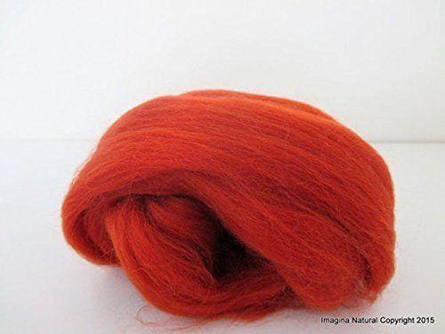 Free Shipping Autumn Red Brown Handmade Merino Roving Wool Hand Spinning Felting Fibre Araucania Craft Art Chilean Knitting Chunky 18 Micron
