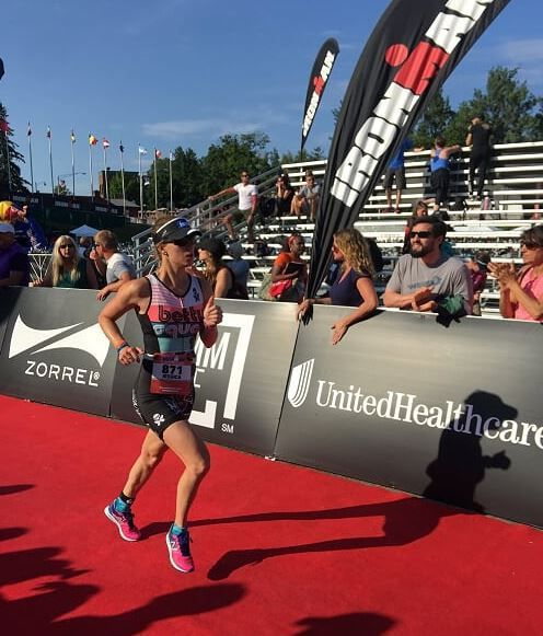 My first #Ironman experience in Lake Placid. #TeamBetty #BettyDesigns