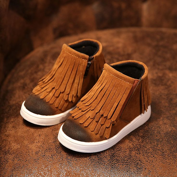 New 2016 Winter Children Shoes PU Leather Snow Boots kids Warm Boys Warm  Boots Girl Platform Shoes Size