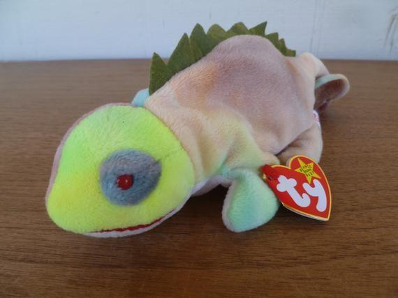 1997 Mint w// Tag PE Pellets Ty Beanie Babies Iggy the Green Iguana