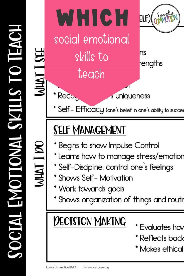 Which Social Emotional Skills To Teach Social Emotional Skills Emotional Skills Social Emotional